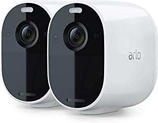Arlo Essential Spotlight Camera| 2 Pack | Wire-Free, 1080p | Colour Night Vision, 2-Way Audio, 6-Month Battery Life, Motio...