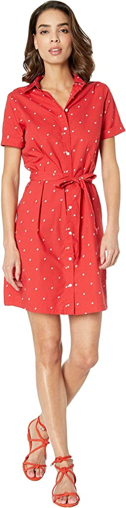 Dot Pleated Dress