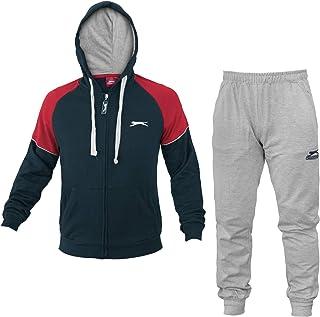 Pantaloni da Jogging VANVENE con Cerniera e Cappuccio Tuta Sportiva Sportiva da Uomo