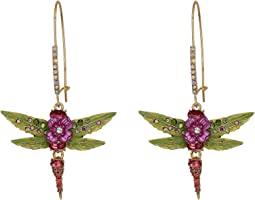 Dragonfly Long Drop Earrings