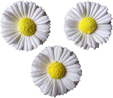 Daisy Mulberry Paper Flower Paper with Yellow Centre Miniature Flowers DIY Wedding Decor Daisy Flowers Fake Flowers Heads Art