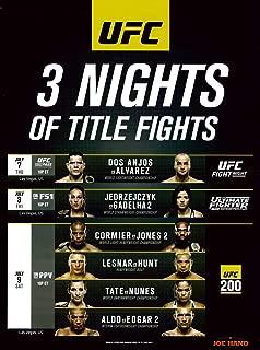 Kersplat! Comics UFC 200 Official Event Promo Poster 18x24 Lesnar v Hunt, Tate v Nunes
