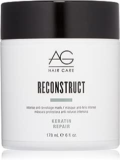 AG Hair Keratin Repair Reconstruct Intense Anti-Breakage Mask, 6 Fl Oz