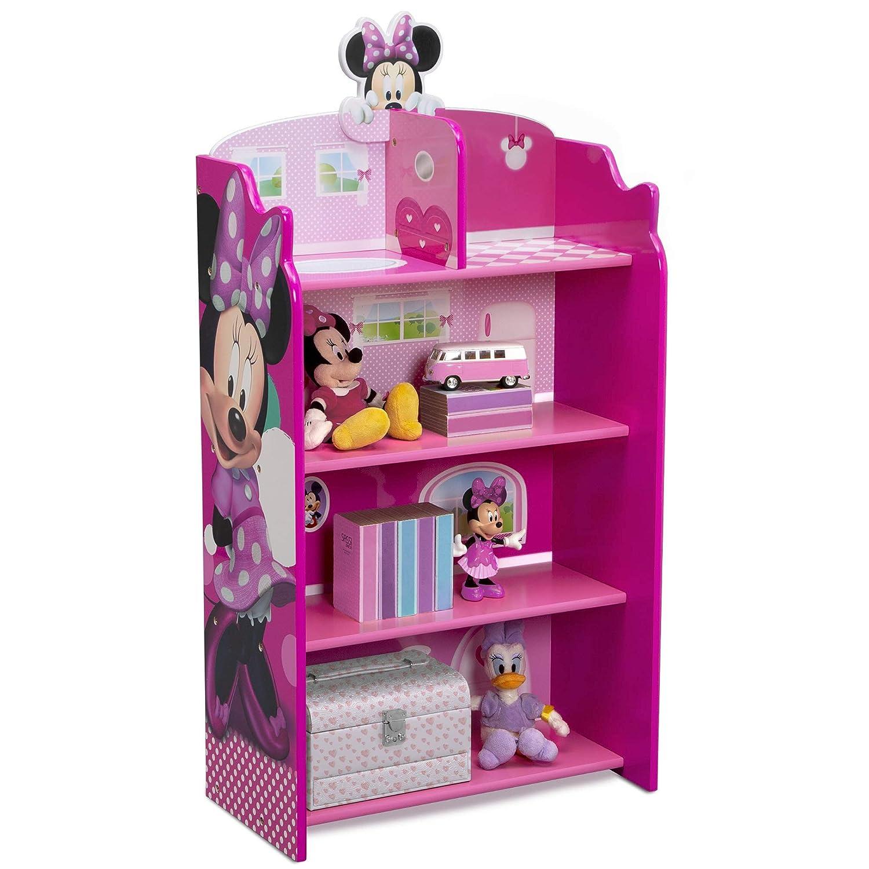 Delta Children Wooden Playhouse service 4-Shelf trend rank Bookcase Kids Minni for
