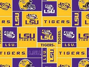 College LSU Tigers Louisiana State University 012 Print Fleece Fabric By the Yard