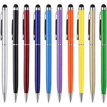 Stylus Pens anngrowy Stylus Pen for Touch Screens Capacitive Stylus Ballpoint Pen Stylus for ipad iphone 6/6s 6Plus 6s Plus 7/7s 8/8 Plus x Kindle Touch Samsung Galaxy S5 S6 S7 S8 Plus
