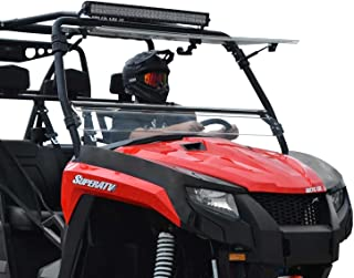 SuperATV Flip 3-in-1 Scratch Resistant Windshield for Arctic Cat HDX 700 / Crew 700 (2016-2017) - 3 Different Settings! - Hard-Coated for Extreme Durability and Long Life!