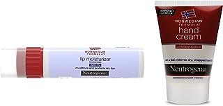 Neutrogena Norwegian Formula Lip Moisturizer, SPF 15, 4g And Neutrogena Norwegian Formula Hand Cream For Women and Men, 56g