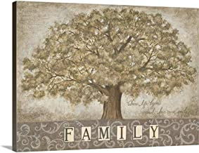 Our Family Tree Canvas Wall Art Print, 24