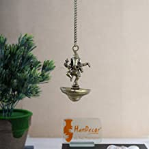 Two Moustaches Dancing Ganesha Brass Hanging Diya | Home Decor |