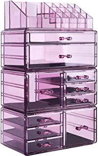 InnSweet Acrylic Makeup Organizer Cosmetic Storage Drawers and Jewelry Display Box, Large...