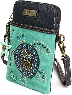 Chala Crossbody Cell Phone Purse-Women Canvas Multicolor Handbag with Adjustable Strap