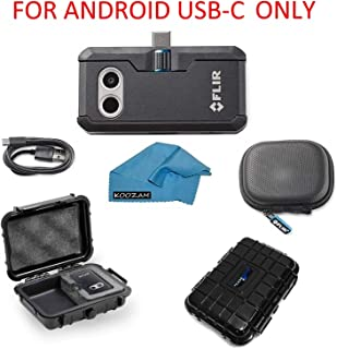FLIR ONE Pro Thermal Imaging Camera Android USB-C ONLY Bundle With Rugged Waterproof Case and Cleaning Cloth (NOT FOR iPhone)