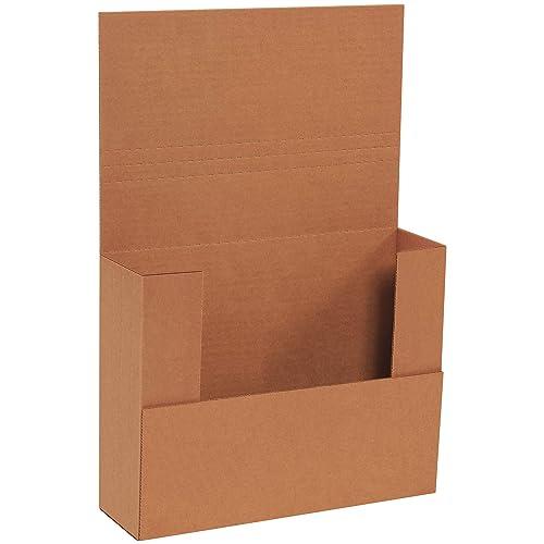 "BOX USA BM1183BFK Easy-Fold Mailers, 11"" x 8 1/2"" x 3"", Kraft (Pack of 50)"