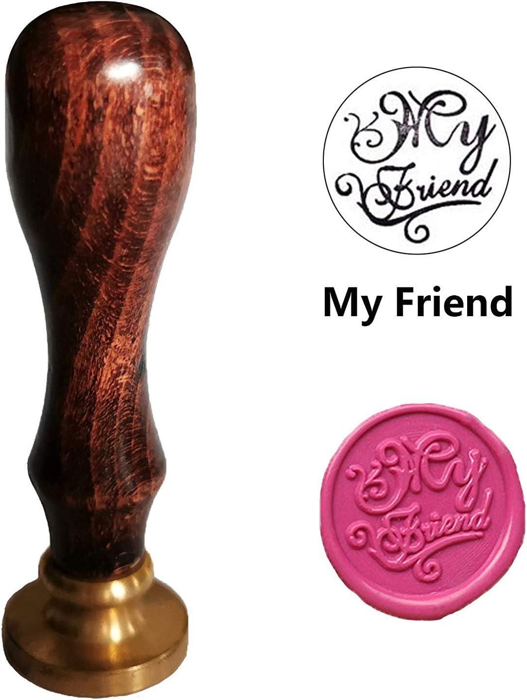 6 tampons interchangeables en laiton Arbre de vie abeille 1 t/ête en bois /élan rose couronne remerciement. Lot de 6 tampons de cire vintage r/étro avec bo/îte cadeau