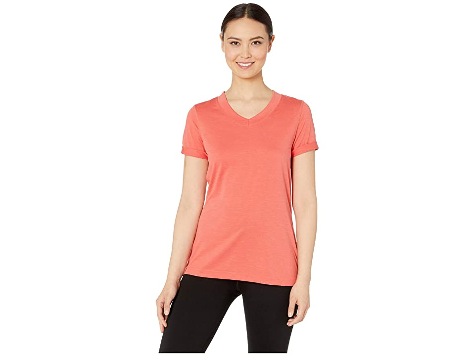The North Face HyperLayer FD Short Sleeve V-Neck (Spiced Coral) Women