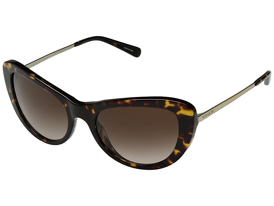 Retro Sunglasses | Vintage Glasses | New Vintage Eyeglasses COACH 0HC8247 53mm Dark TortoiseSmoke Brown Gradient Fashion Sunglasses $175.00 AT vintagedancer.com