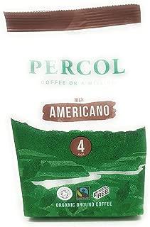Percol Fairtrade & Organic Americano Ground Coffee 200g - Pack of 2