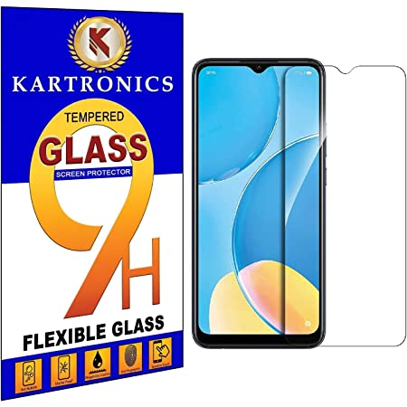Kartronics Compatible with Oppo A15S Premium Tempered Glass Screen Protector Slim 9H Hard 2.5D with Full Installation Kit and Warranty