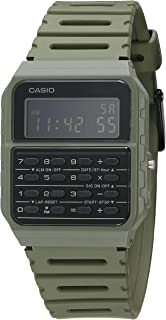 Casio Data Bank Quartz Watch with Resin Strap, Green, 24.1 (Model: CA-53WF-3BCF)