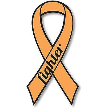 Amazon Com Orange Leukemia And Kidney Cancer Fighter Ribbon Car Magnet Decal Heavy Duty Waterproof Automotive