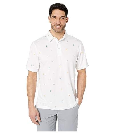 Straight Down Happy Hour Polo (White) Men