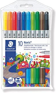 Staedtler Noris Club Double Ended Fibre Tips (Pack of 10) 320NWP10 (1, A)