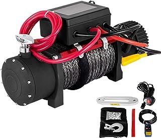 VEVOR 13500 LBS lier voor elektrische vrachtwagens, 12 V, elektrische kabellier, synthetische ATV met afstandsbediening, e...