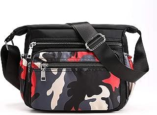 Womens Nylon Floral Shoulder Bag Crossbody Bag Messenger Bags Travel Handbags With Adjustable Strap Waterproof