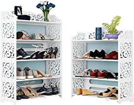 Witte schoenenrek hoge smalle houten schoen opbergkast kast kast voor hal kleine ruimte 3 4 5 6 Tier, Europese holle schoe...
