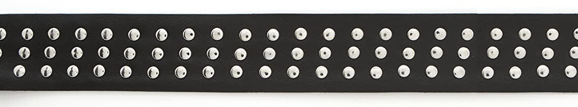 Simplicity 44 mm Pleather Band with Studs Trim and Embellishments, Black