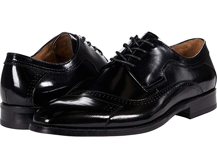1960s Men's Clothing Stacy Adams Paxton Cap Toe Oxford Black Mens Shoes $124.95 AT vintagedancer.com