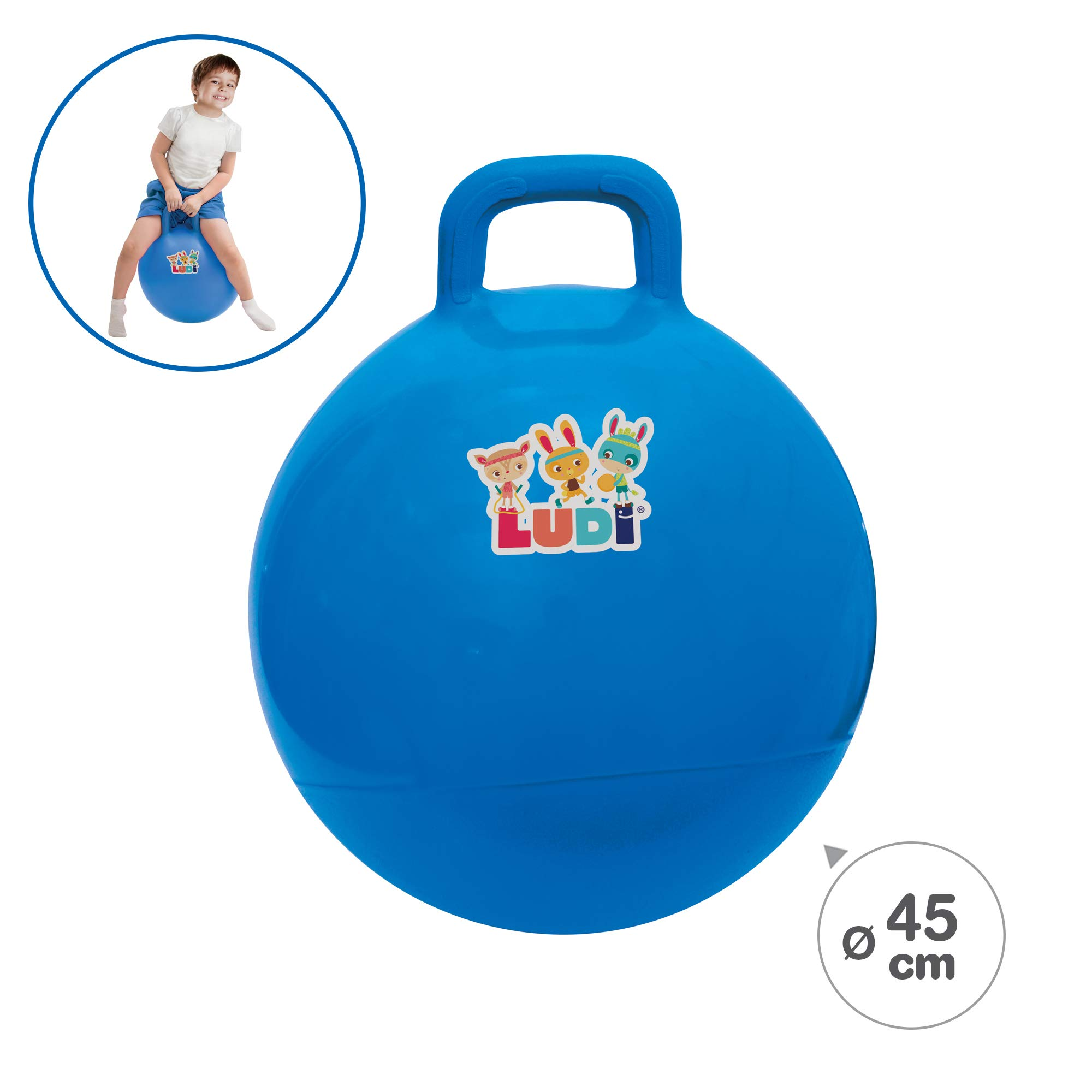 Ludi Pelota SALTARINA 45CM Azul: Amazon.es: Juguetes y juegos