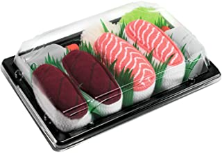 Rainbow Socks, Mujer Hombre Calcetines Sushi Atún Salmón - 2 Pares