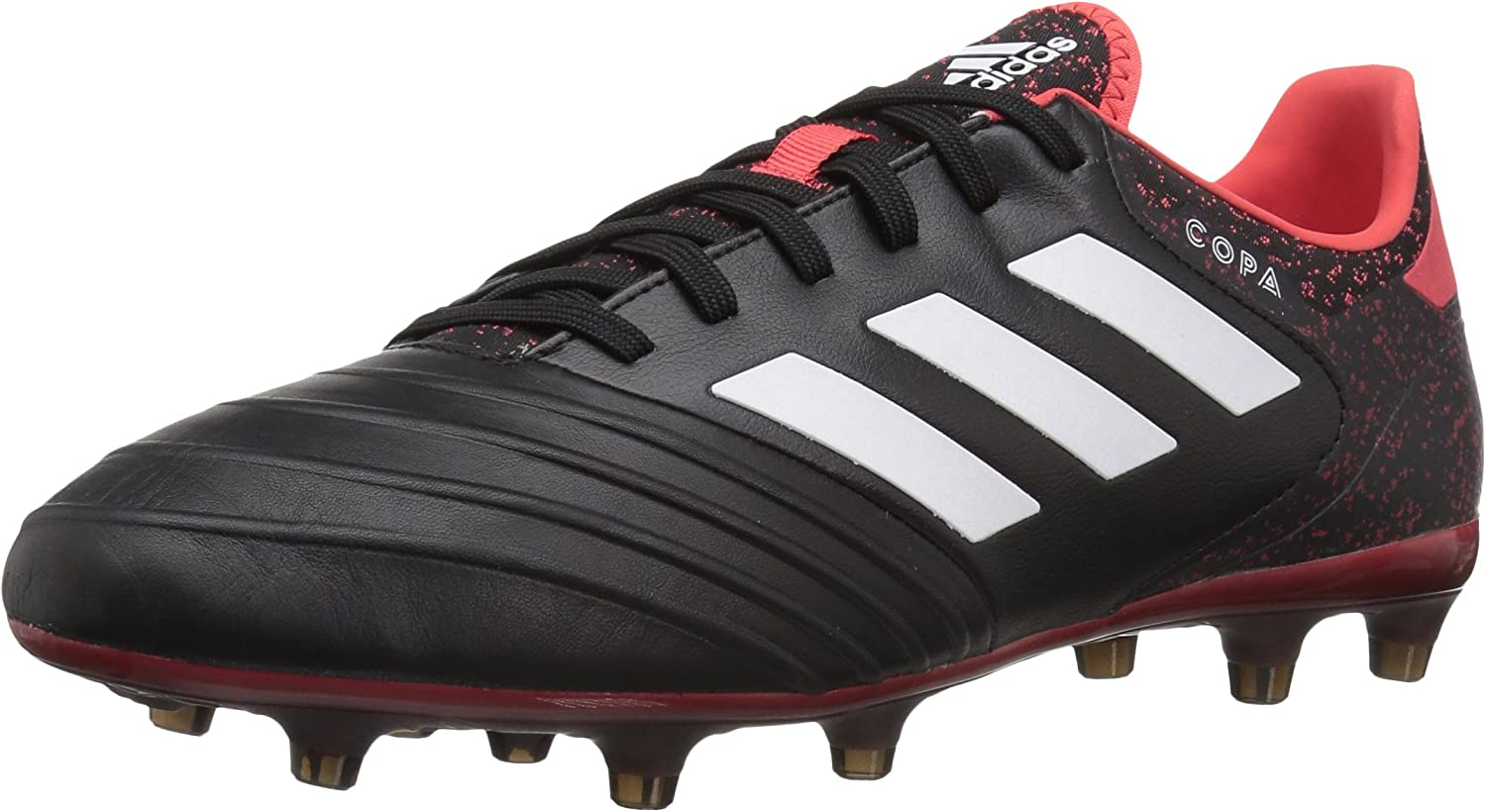 Adidas Men's Copa 18.2 Firm Ground Soccer schuhe, schwarz Weiß Real Coral, 8.5 M US