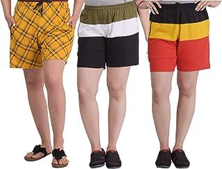 SHAUN Women's Cotton Shorts (Pack of 3)
