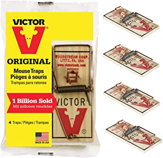 Victor Metal Pedal Mouse Trap, Pack of 4 - M154 Wood Mouse Trap