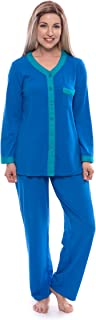 Women's Long Sleeve Pajama Set - Button Up Sleepwear by Texere (Eco Nirvana)