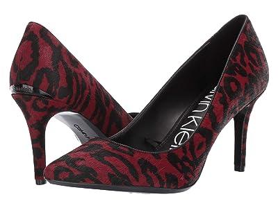 Calvin Klein Gayle Pump (Barn Red Haircalf/Sheep) High Heels