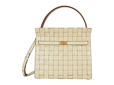 Tory Burch Lee Radziwill Woven Double Bag