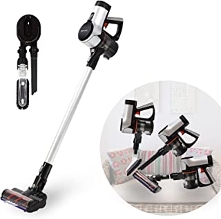 WECLEAN V4 Cordless Vacuum Cleaner with Wall Mount, Battery Vacuum Cleaners Cordless Stick Vacuum with LED Cordless Carpet Cleaner with Brushless Motor Wireless Floor Vacuum Pet Vacuum Cleaner