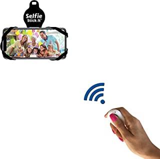 Hands Free Anti Gravity Universal Phone Holder That Sticks to Anything, Take The Perfect Selfie, Mount on Any Surface and Watch Videos or Movies, Includes Bonus Bluetooth Remote for Photos (Black)