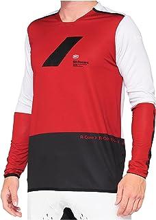 100% R-Core X shirt heren rood/zwart 2021 fietsshirt met lange mouwen
