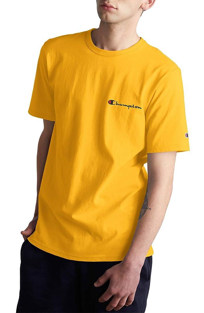 隣人掘る忍耐[チャンピオン] メンズ Tシャツ Champion Logo Embroidered Crewneck T-Shi [並行輸入品]