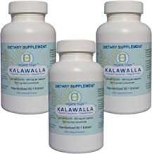 Kalawalla (Calaguala) with Polypodium Leucotomos for Immune System Support, Highest Potency 50:1 Extract 400mg. (3 Pack - 360 Veggie Caps) Save $12