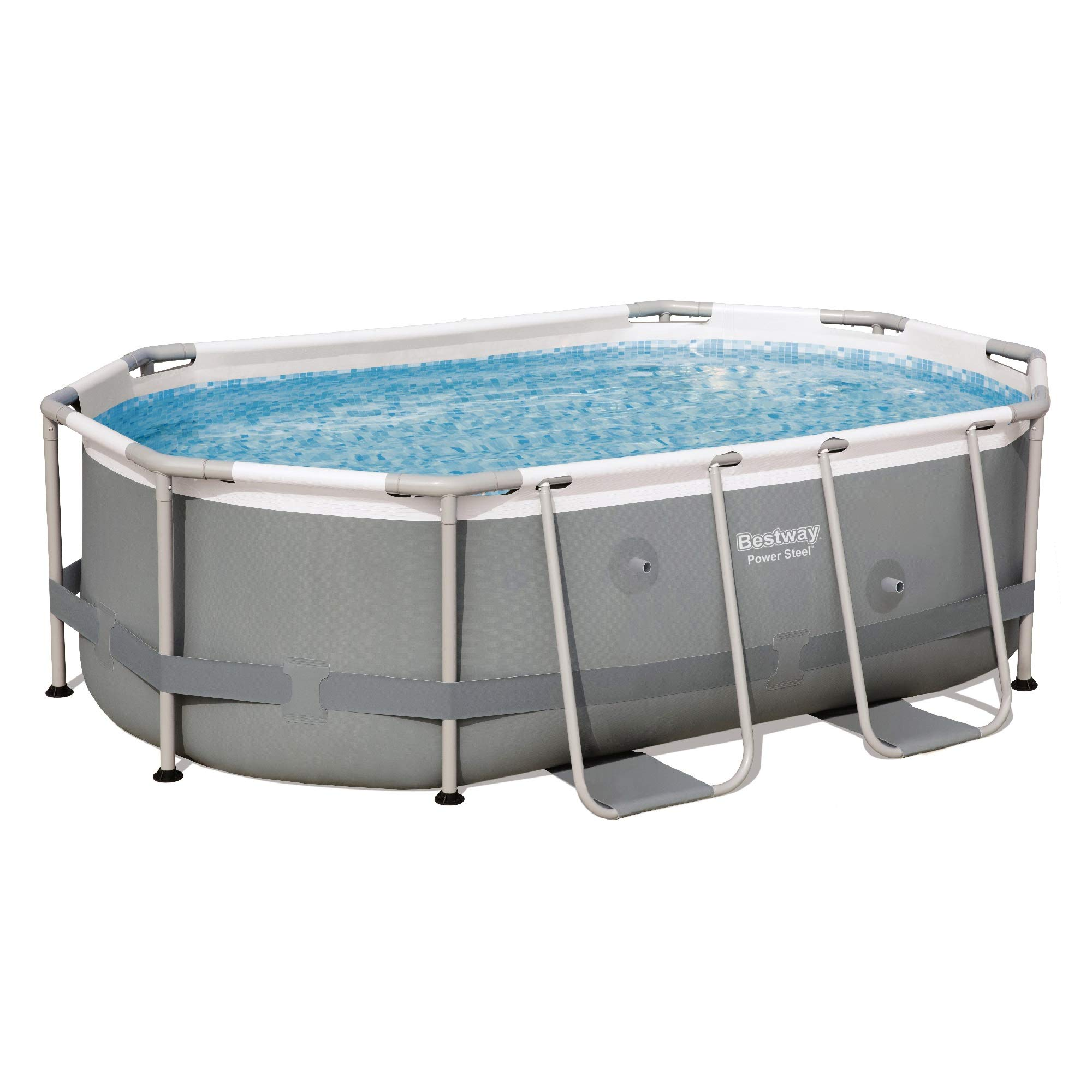 Bestway Power Steel - Piscina para Exteriores, Color Gris: Amazon.es: Jardín