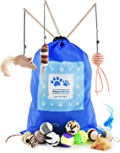 My Pet & Me, Cat Toy Set. 15 Piece Goodie Bag for Your Cat or Kitten! UK Manufacturer, Fully Safety Tested, Comes with Handy Storage Bag