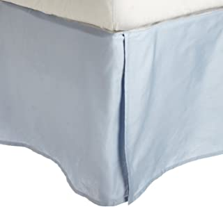 Superior Combed Cotton, 300 Thread Count Pleated Bed Skirt, Queen, Light Blue
