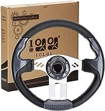 10L0L Golf Cart Steering Wheel or Adapter, Generic of Most Golf Cart EZGO Club Car Yamaha Carbon Fiber