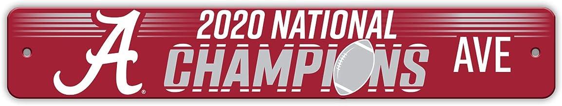 Fremont Die NCAA Alabama Crimson Tide 2020 College Football National Champions Street Sign